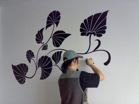 title='家装手绘墙画怎么样,家装手绘墙画多少钱一平米'