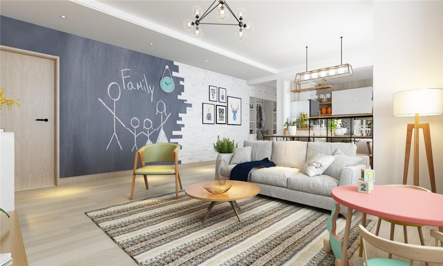 北京新乔公寓简欧风格装修案例