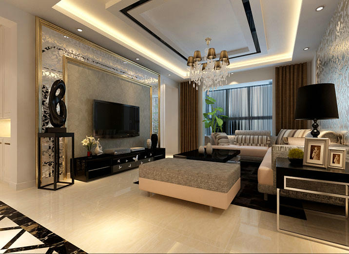 北京育龙家园现代简约三居装修案例