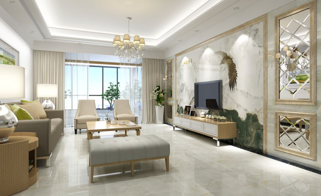 北京客厅装修墙面贴砖怎么样