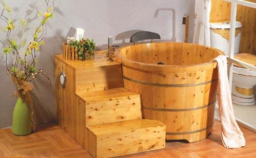 木桶浴缸尺寸,如何选购木桶浴缸