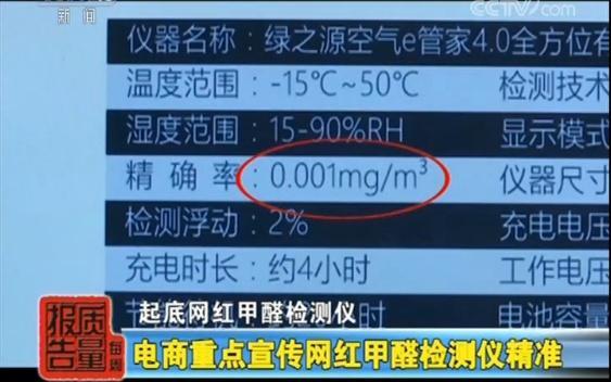网红甲醛检测仪大调查:全部不合格,误差高到离谱